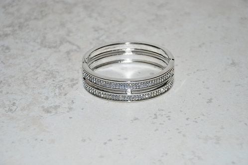 Rhinestone Cuff - Silver