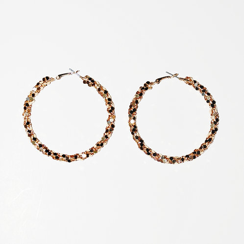 Stuntin on You - Gold Hoops