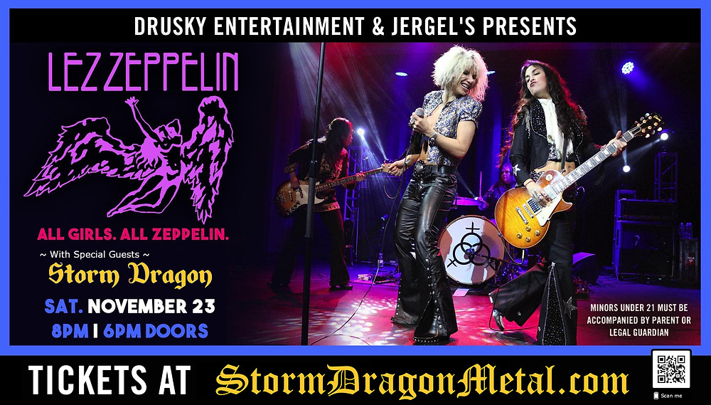 Lez Zeppelin w/Storm Dragon at Jergels 11/23/19