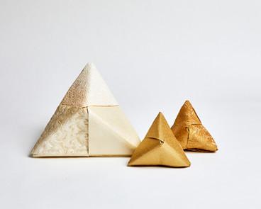 Large Origami Pyramids - Tabletop Decor