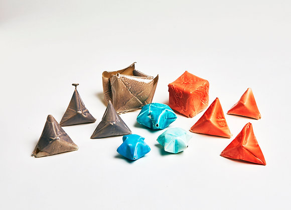Origami porcelain - cubes, pyramids, lucky stars