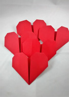 Red puffy hearts