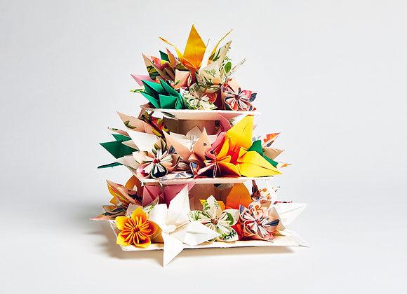 Origami couture cake