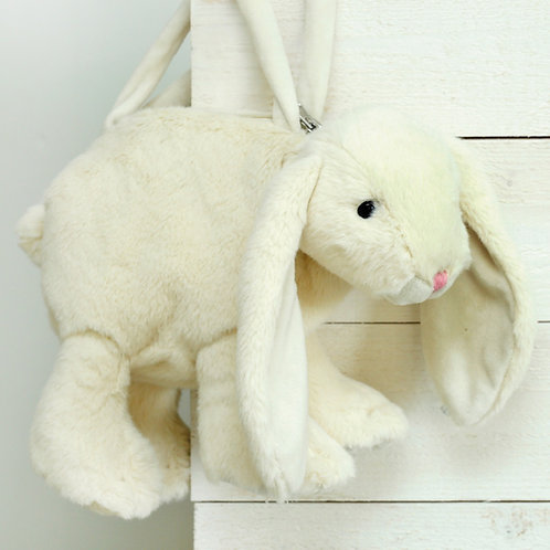 Plush Toy Bunny Bag Cream