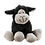 Thumbnail: Mini Black Sitting Sheep with Happy Easter Keyring