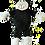 Thumbnail: Black Snuggle Sheep In Personalised Jumper