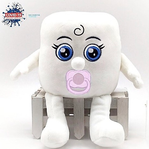 """Soft Toy """"Baby Mandy"""" Toilet Roll In aid of the NHS Charities Together COVID-19"""