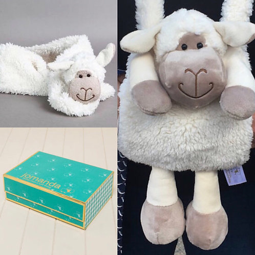 Sheep Hand Muff & Scarf In Magnetic Box