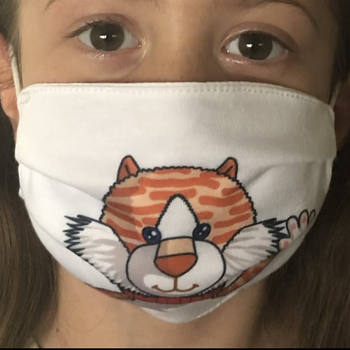 Ginge the Cat Face Covering (Pack of 2) Ages 6-16