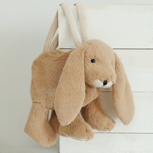 Plush Toy Bunny Bag Brown