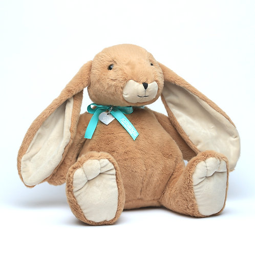 Large Brown Bunny With Bow & Personalised Tag