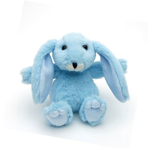 Mini Snuggly Bunny Baby Blue