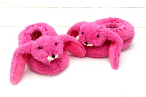 Bunny Baby Slippers Fushia