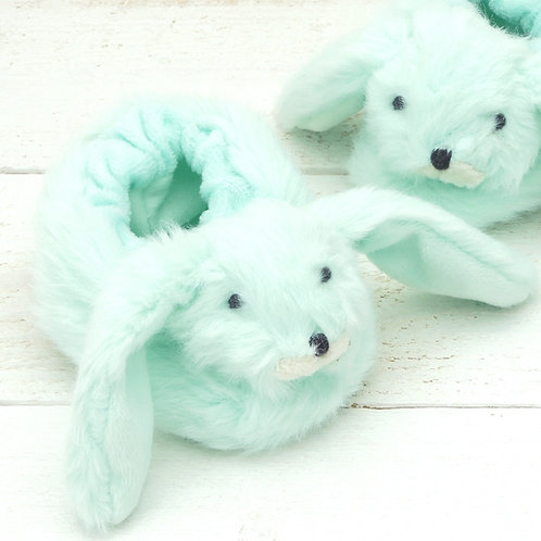 Bunny Baby Slippers Green