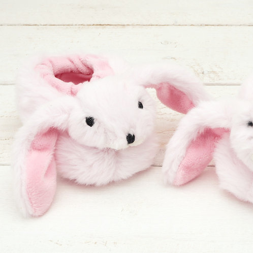 Bunny Baby Slippers Baby Pink