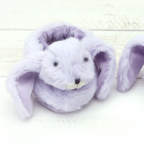 Bunny Baby Slippers Purple