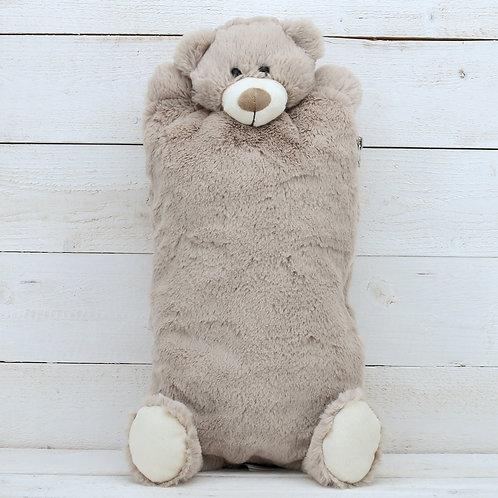 Teddy Bear Hot Water Bottle / Pyjama Case Brown
