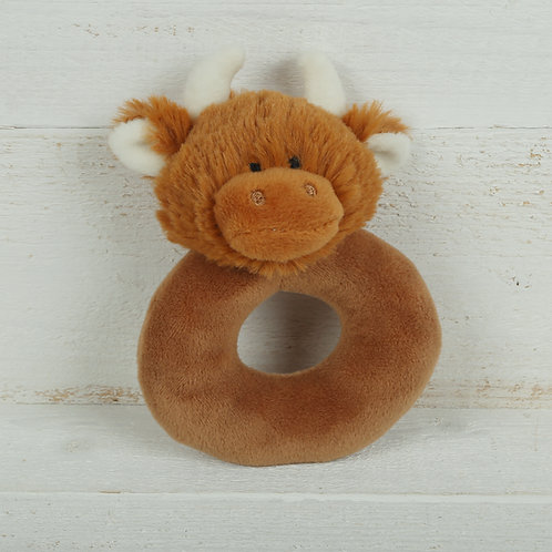 Highland Coo Baby Rattle