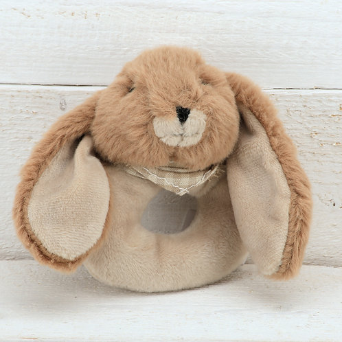 Bunny Baby Rattle Brown