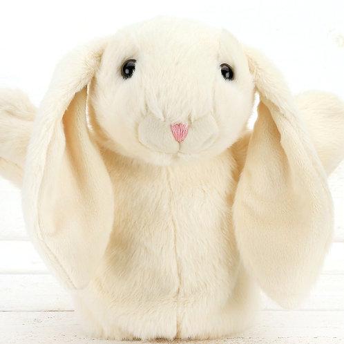 Cream Bunny Hand Puppet