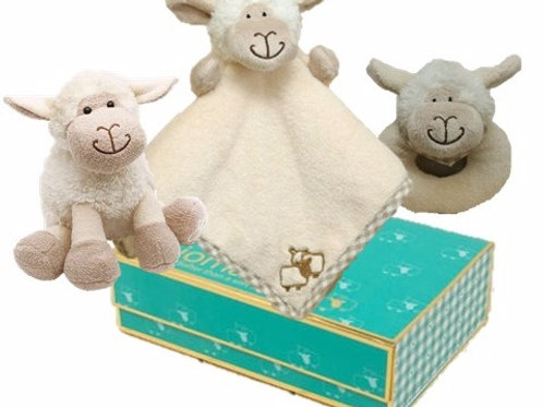 Sheep Finger Puppet, rattle, mini sheep toy  in Magnetic Box