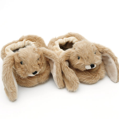 Bunny Baby Slippers Brown