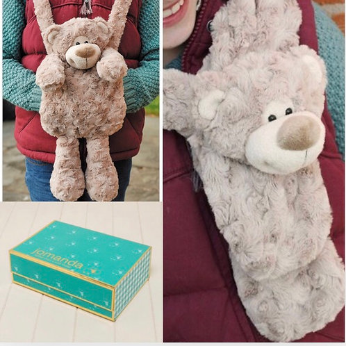 Happy Bear Hand Muff & Scarf In Magnetic Box