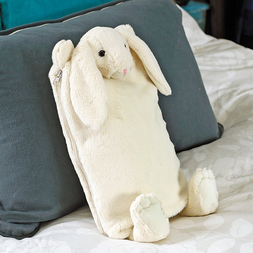 Bunny Hot Water Bottle / Pyjama Case Cream