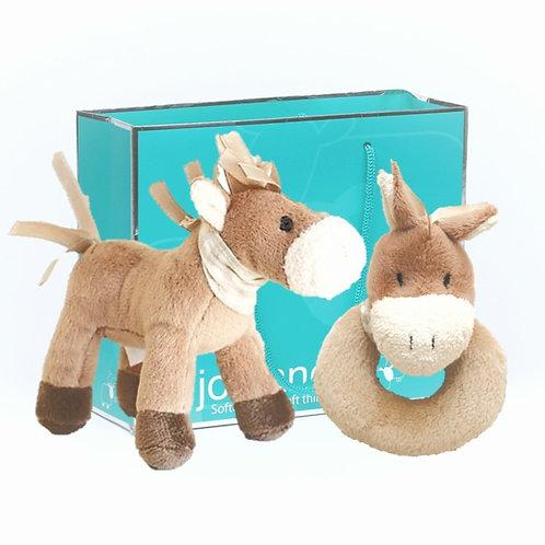Cheeky Mini Pony & Rattle Set in Gift Bag