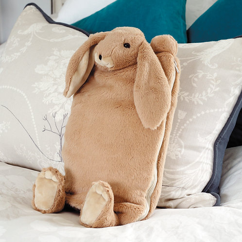 Bunny Hot Water Bottle / Pyjama Case Brown