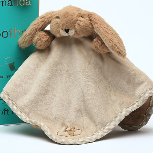 Bunny Soother/Finger Puppet Brown