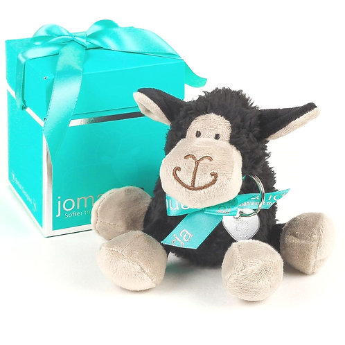 Mini Black Sitting Sheep with Happy Easter Keyring