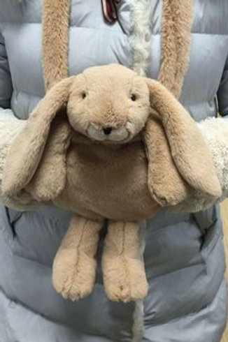 Bunny Hand Muff Brown
