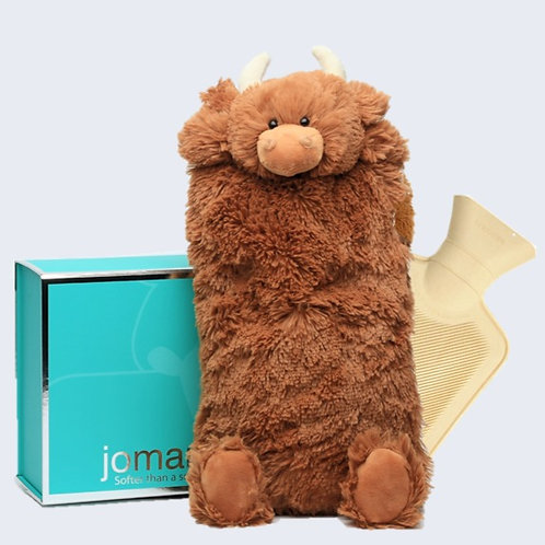 Highland Coo Cover & Hot Water Bottle in Magnetic Box