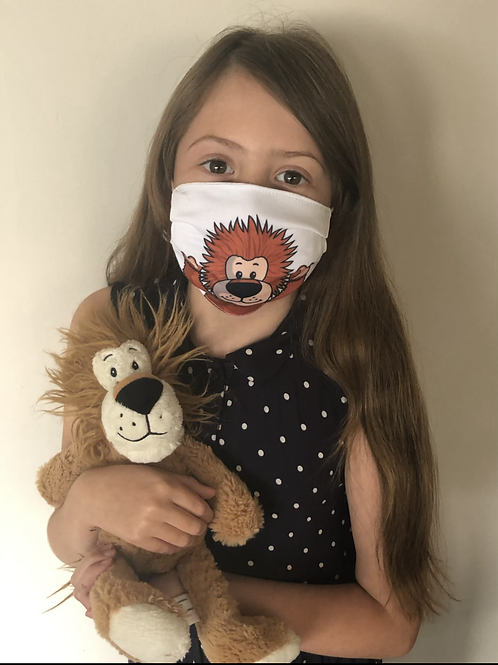 Bad Hair Day Lion Face Covering (Pack of 2) Ages 6-16
