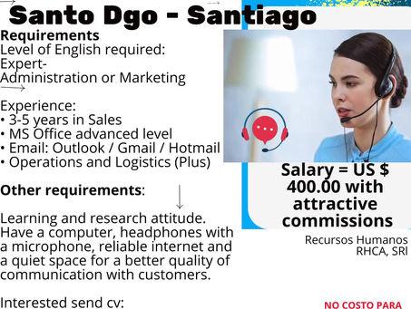 SALES SPECIALIST                           Santo Dgo - Santiago