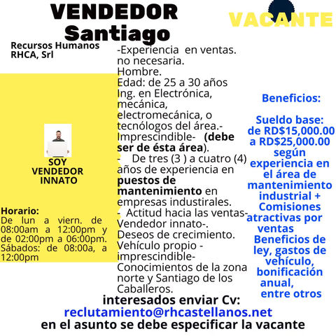 Vendedor (Santiago, Zona Norte)