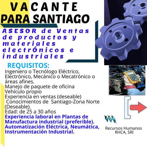 Asesor de Ventas de Productos y materiales electrónicos e industriales