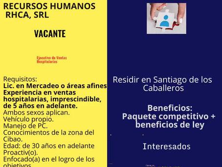 Ejecutivo(a) de Ventas Hospitalaria. Santiago