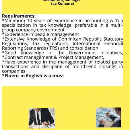 Accounting Manager (La Romana)
