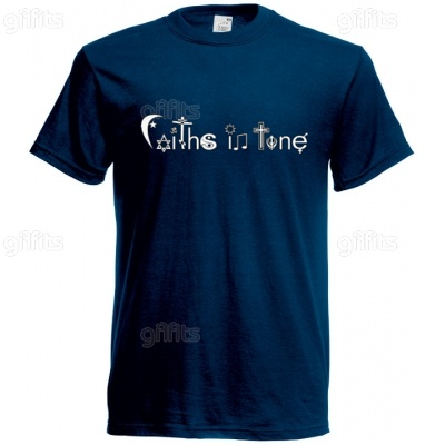 Faiths In Tune T-Shirt (navy blue)