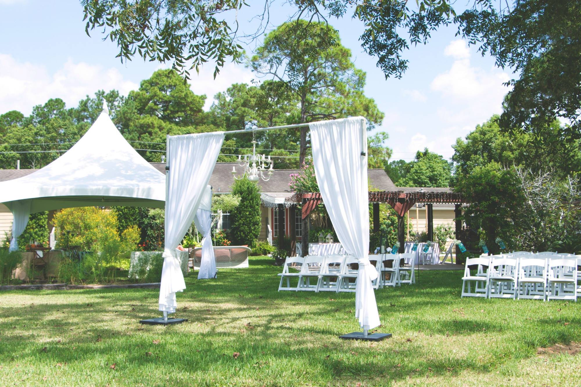 Outdoor Wedding/Reception Setup