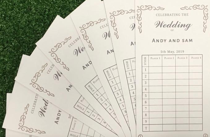 crazy golf wedding personalised score ca