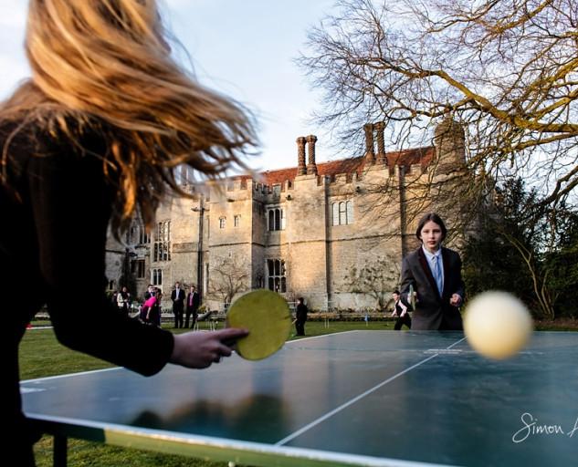 hengrave-hall-wedding - table tennis hir