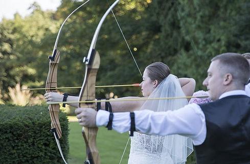 Wedding Archery bride with bow and arrow.jpeg