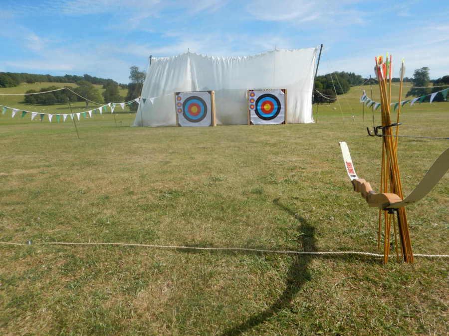 wedding archery set-up