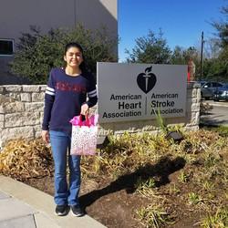 Victoria at the Houston AHA Headquarters