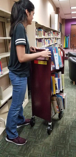 Volunteer day at Helen Hall library