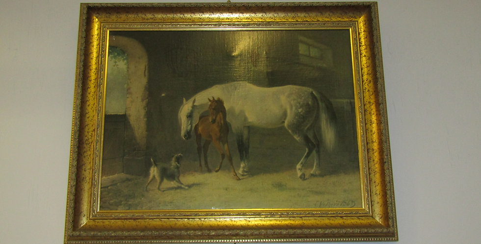 """Anxious Foal "" by Emil Volkers 1863  german"