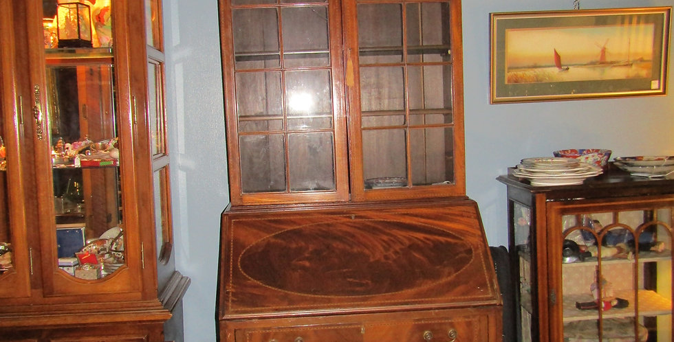 Antique Victorian Mahogany Brueau & bookcase